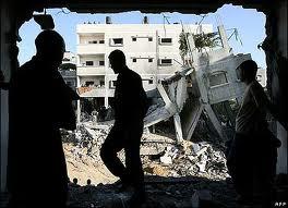 rumah dibomb jet tentera israel