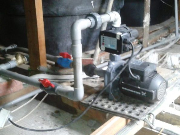 correct installation booster pump