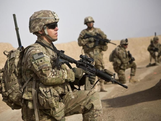 Soldiers from the US Army's Bravo Company in Afghanistan. Photo: Reuters