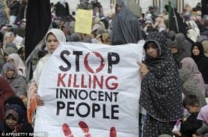 Awek Hazara seramai 4 ribu orang hadir bangun membuat demo 4 hari lepas