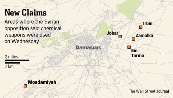 5 roket yang di lengkapi senjata kimia di lepaskan di bandar/daerah paling terdekat daerah Jabar dan paling jauh Moadamiyah lingkungan 7km dan paling jauh 40km