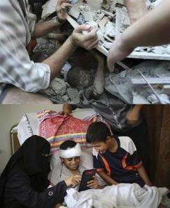 Kanak Gaza, Dia tertawa melihat gamabr dia dalam runtuhan