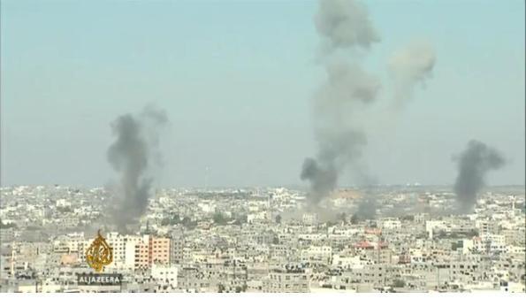 273 pengeboman ke atas Gaza, Kebanyakkan di sasar ke bangunan bangunan