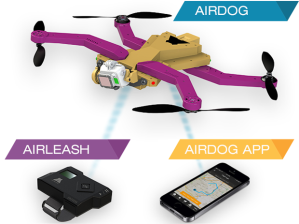 dengan adanya sensor dinamakan 'airleash', ia akan mengikuti kemana anda pergi