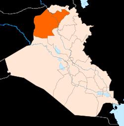 Wiliyah Ninawa , utara Iraq, mempunyai penganut tertinggi agama Yezidi