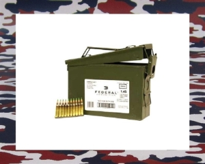 Harga seunuit peluru M16 ialah rm 1.28 sen Federal Cartridge Co 5.56mm 62 Grain XM855 FMJ - 420 Rounds in Ammo Can on Stripper Clips Price / Box: $174.97