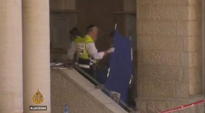 Forensik polis tiba di tempat kejadian
