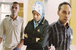 DARI kiri Mohamad Harizal, Nur Ridah dan Kamarudin menghadapi tuduhan di Mahkamah Tinggi Syariah Kuala Lumpur, semalam. - See more at: http://www.hmetro.com.my/node/8229#sthash.kWYKraY0.dpuf