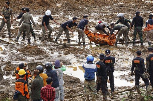 APTOPIX Indonesia Landslides