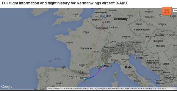 Lokasi pesawat terhempas