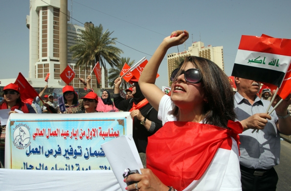 IRAQ-MAY1-PROTEST-LABOUR
