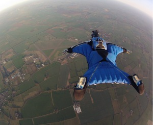 In order to fly a wingsuit in the U.S. at a USPA Group Member dropzone, you'll need to complete at least 200 jumps in 18 months (or 500 total jumps).